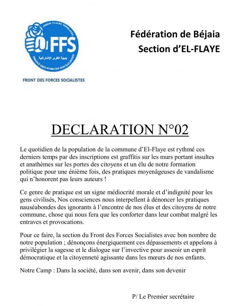 Déclaration N° 02 sans-titre